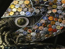 bottle cap nautilus sculpture
