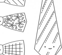 ties embroidery patterns for father's day