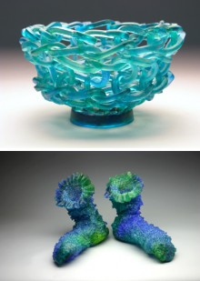 knitted glass from carol milne