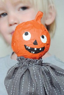 how-to: halloween paper mache puppets