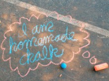 activities for kids: homemade sidewalk chalk