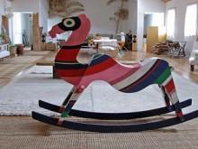 psychedelic rocking camel