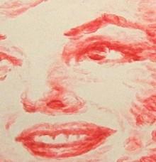 affectionate lipstick portrait
