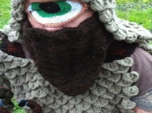 crocheted cyclops costume