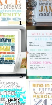 diy! new year printables