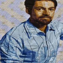 luke haynes self portrait and 3d illusion quilts