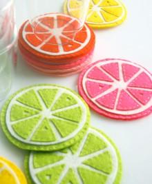 how-to: felt citrus coasters