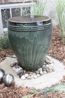 gift presents: backyard fountain tutorial