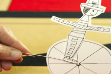 how-to: paper circus rider toy