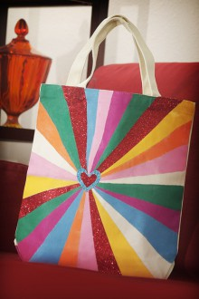 how-to: painted starburst tote