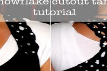 how-to: snowflake cutout tank top