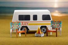 diy papercraft camping scene calendar