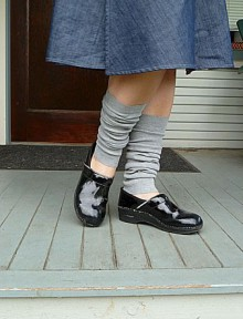 how-to: leg warmers from knit fabric