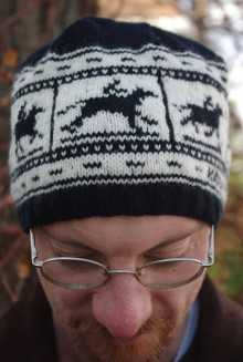 knit zoetrope hat
