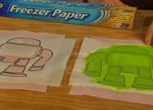 maker faire freezer paper stencils