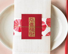chinese new year envelope place setting