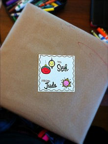 printables: doodle holiday tags