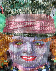 beaded mad hatter portrait and 'making of' video