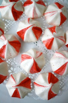 recipe: peppermint meringue cookies
