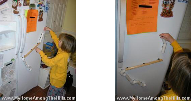 diy magnetic fridge marble run