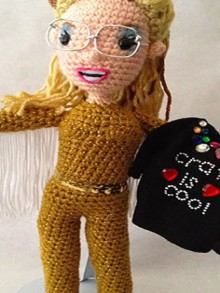 leslie hall amigurumi from crafty is cool