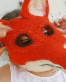 needle felted fox mask