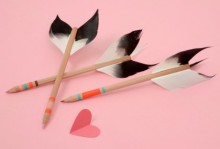 how-to: lovestruck arrow pencils