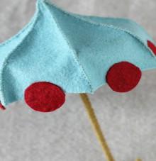 how-to: miniature felt umbrella
