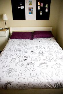 how-to: custom kids' art duvet cover