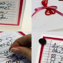how-to: embroidered note valentine