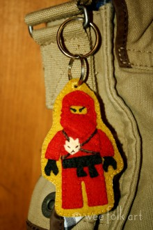 how-to: felt lego ningago keychain