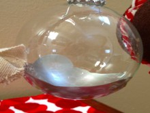 project: paint swirl glass ornaments