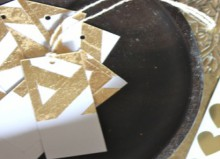 how-to: gold leaf gift tags