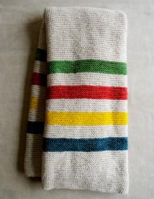 how-to: hudson's bay-inspired knitted crib blanket