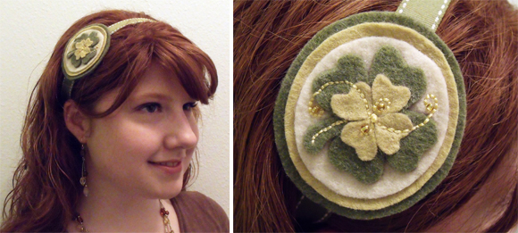 how-to: four leaf clover headband