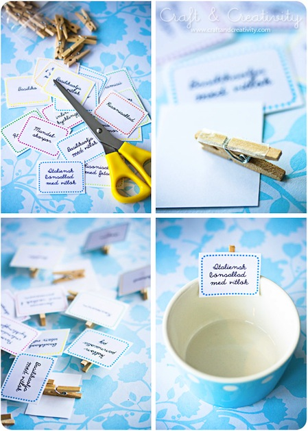 The solution clear consistent labeling like these fun buffet food tags