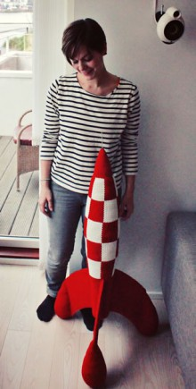 crochet tintin rocket