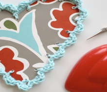 how-to: crochet edged valentines