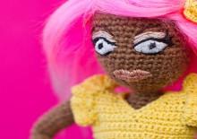 amigurumi rupaul doll