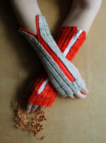 how-to: zippered hand warmers