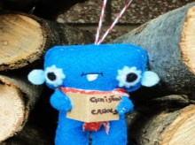 caroling monster ornament