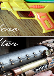 how-to: transform toy gun in to steampunk beauty