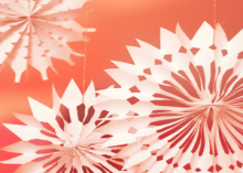 how-to: 3d paper snowflake decorations