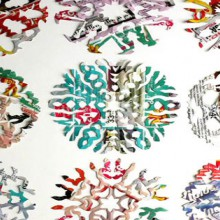 how-to: colorful paper snowflakes from junk mail