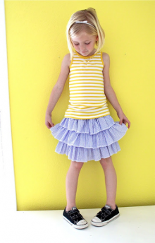 how-to: layered seersucker skirt