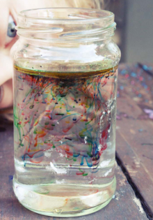 how-to: oily fireworks in a jar