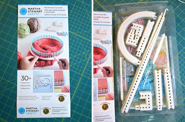 Tool review martha stewart crafts and lion brand yarn for Martha stewart crafts knit weave loom kit