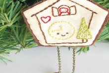 how-to: embroidered cuckoo clock ornament