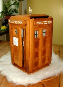 recipe: gingerbread tardis
