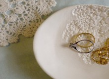 how-to: doily printed clay bowl